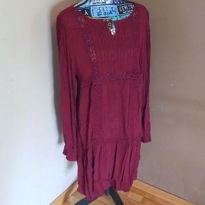 Maroon  dress, xhilatation  XL